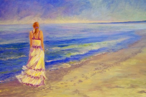 Waiting, Pastel-Sold