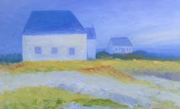 Isles of Shoals Cottage, oil