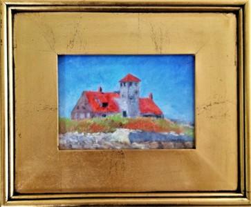 Wood Island, Pastel, Sold