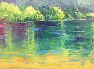 Greeley Pond, Oil, Sold