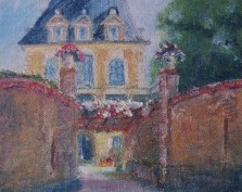 The Chateau,My Repose, France,oil pastel